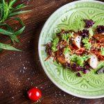 Салат с судаком в соусе унаги